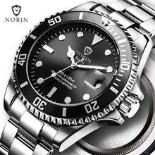 Горячая новинка 2018 года NOBJN для мужчин кварцевые часы Автоматическая Дата Спорт часы Модные Роскошные Известный Дизайн Мужской G