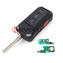 Полный Дистанционный Ключ 3 + 1 Кнопки 433 МГц ID46 для Porsche Cayenne 2004 2005 2006 2007 2008 2009 2010