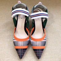 Женские туфли лодочки из сетчатого материала с острым носком на высоком тонком каблуке, женские туфли на шпильке с вышивкой, брендовые моде