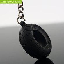 Motorcycle Motorbike Tyre Keychain Key Chain Tire Keyring Key Ring Keyfob Rubber Car Auto