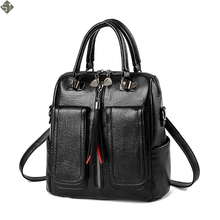 Female Vintage Leather Ladies HandBags Women Messenger Bags TotesTassel Designer Crossbody Women Shoulder Bag Boston Hand Bags