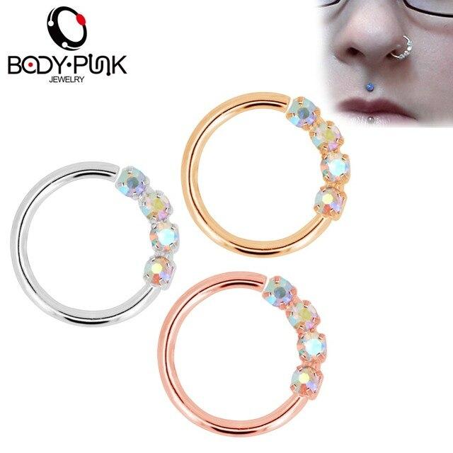 Кольцо в виде кольца для носа 18 г гибкие серьги с блестящими