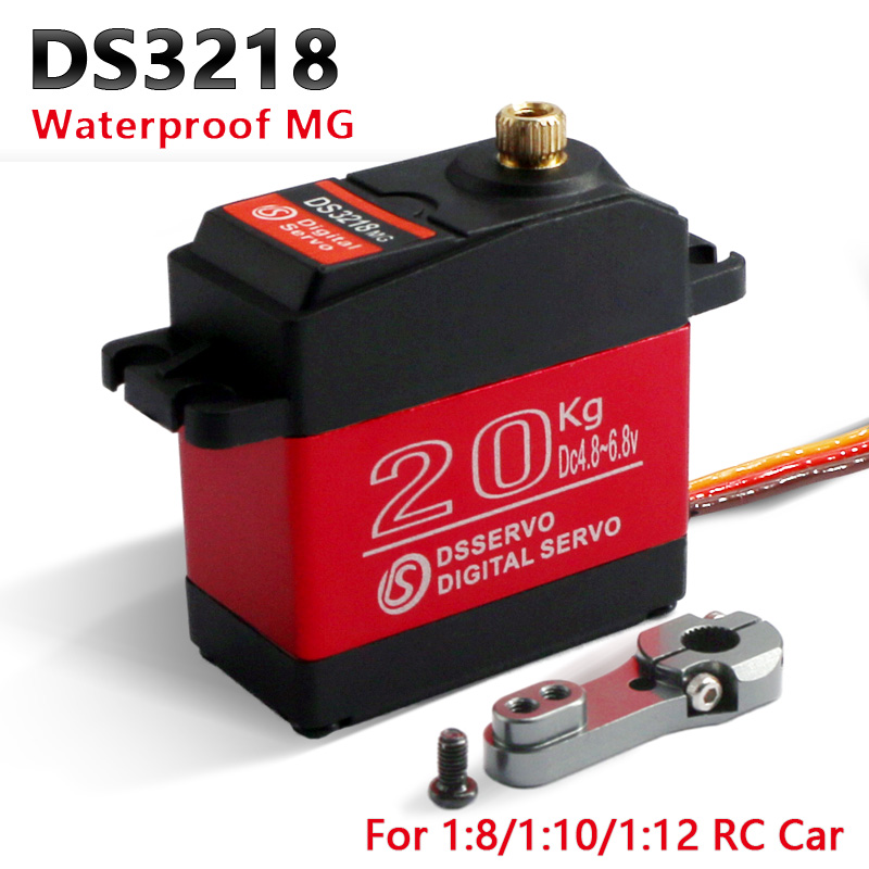 4 pcs Impermeabile servo DS3218 Aggiornamento e PRO high speed metal gear digital servo baja servo 20 KG/. 09 S per 1/8 1/10 Bilancia RC Auto