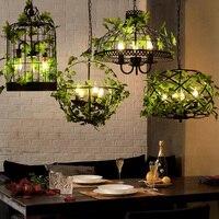 Retro industrial style creative music theme restaurant bird cage chandelier bar hot pot coffee shop art deco lighting ZP5141420