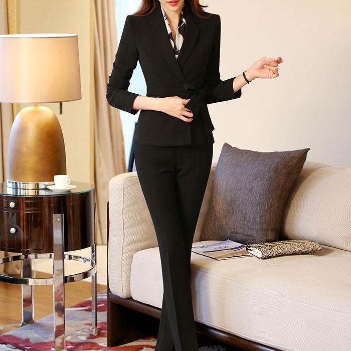 2017 Arbeit Der Frauen V-ausschnitt Anzüge Sets Blazer Ol Mode Plus Größe Formale Langarm Büro Damen Blazer Schlank