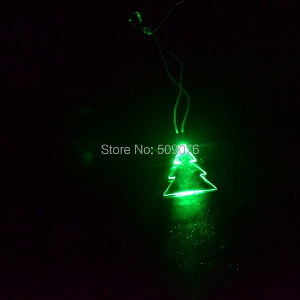 Free shipping 240pcs lot LED Party necklaces green Lights light up Christmas tree lanyard flash lanyard