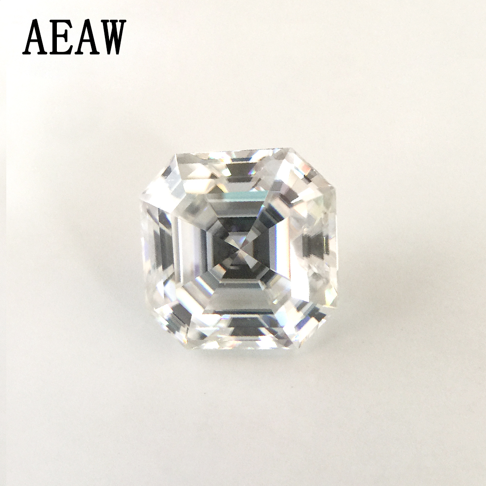 5 CT 10MM Test positive Asscher Moissanites Loose Stone DEF White Colorless for Engagement Ring Bead for Jewelry Making