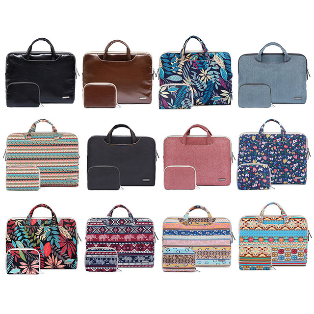 separation shoes cd35f 79af5 US $15.6 35% OFF|Portable Laptop Carrying Case Notebook Handbag Briefcase  Sleeve For Macbook Air Pro 11.6