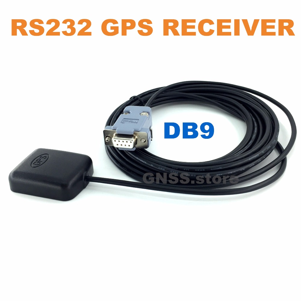 RS232 DB9 female connector RS-232 GPS receiver,waterproof, GPS Antenna receiver module rs232 gps module rs232 gnss chip gps module antenna receiver with cirocomm antenna rs 232 level with flash