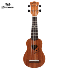 UK DREAM 17 Inch 12 Frets 4 Strings Ukulele Guitar Mahogany Guitar Uke  Hawaiian Guitar Musical Instruments for Beginner UM-110