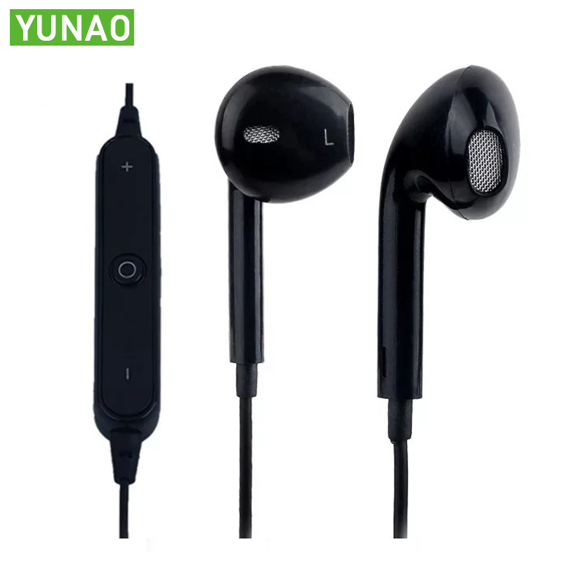 YUNAO <font><b>S6</b></font> wireless <font><b>Bluetooth</b></font> earphones ln-ear earbuds wireless+wired with microphone sport <font><b>bluetooth</b></font> earphones For mobile phones image