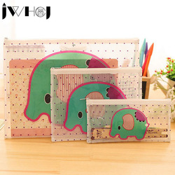 1pcs portable cute cartoon style waterproof multifunction zipper document envelope data case school supplies stationery.jpg 250x250