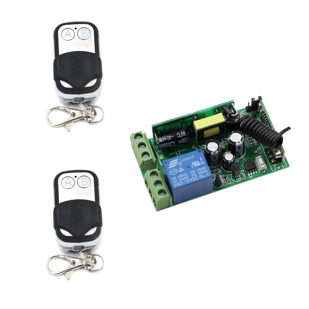 AC 85-250V 1CH Wireless Relay Remote Control Switch Radio Light Switch Wireless Remote ON OFF 110V 220V Receiver Transmitter 110v 220v remote relay control switch 15ch receiver
