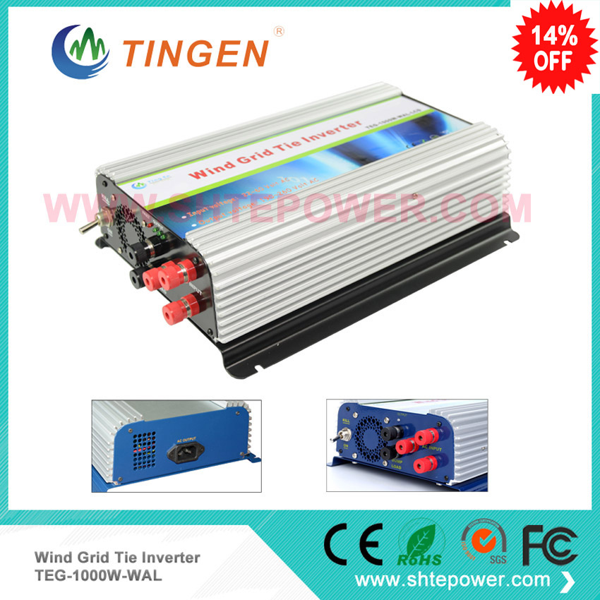 3 phase AC input 22-60v inverter for windmill 1000w turbine generator use with lcd display on grid tie inverter micro inverter 600w on grid tie windmill turbine 3 phase ac input 10 8 30v to ac output pure sine wave