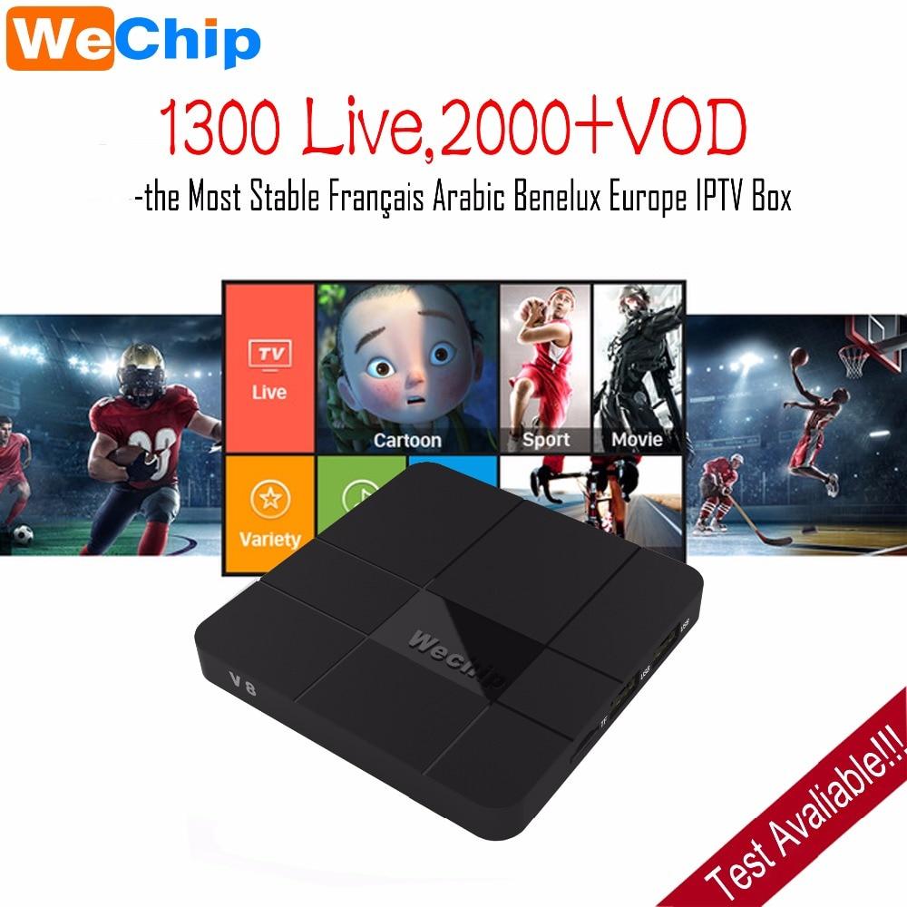 Wechip V8 Android 7.1 TV BOX S905W Quad-core Arabic French IPTV Subscription 1 Year QHDTV Dutch Belgium Arab France IPTV Box VOD r1 arabic french iptv box android 6 0 with qhdtv iptv subscription 1 year iptv belgium netherlands arab france vip sports