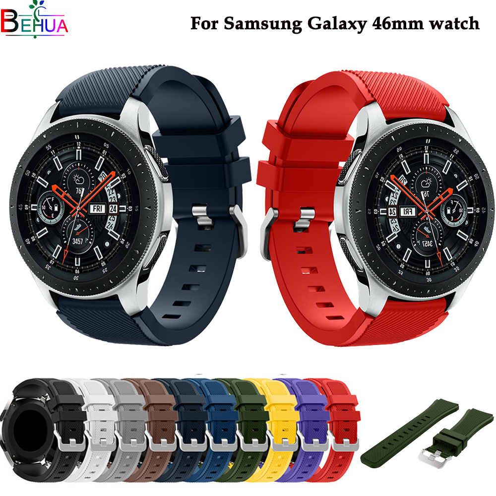 Galaxy 46mm watch band For Samsung Gear S3 Classic/ Frontier silicone sport strap wristband For Huami Amazfit sport 22mm strapsGalaxy 46mm watch band For Samsung Gear S3 Classic/ Frontier silicone sport strap wristband For Huami Amazfit sport 22mm straps