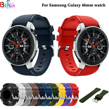 Galaxy 46mm watch band For Samsung Gear S3 Classic/ Frontier silicone sport strap wristband For Huami Amazfit sport 22mm straps 22mm watch band for samsung galaxy watch 46mm gear s3 classic huami amazfit watch silicone sport watch band strap 91011