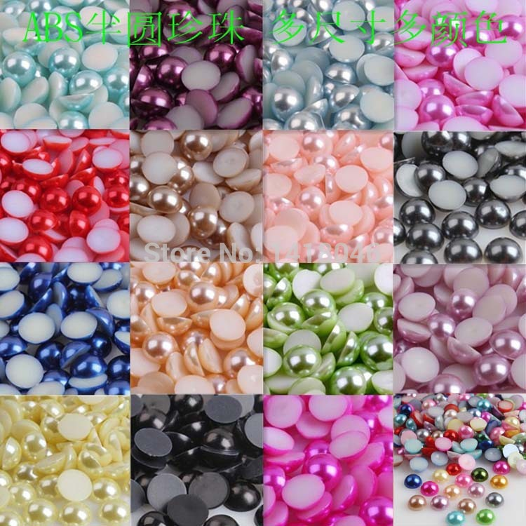 Beads Beads & Jewelry Making Mixed Color Half Round Abs Imitation Pearl Beads Fake Flat Back Scrapbook Craft Diy Jewelry Findings 8mm 500pcs Bmzz08m Price Remains Stable