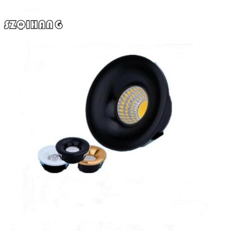 Hight Light LED Downlights Round 5W COB Mini Spot Recessed Dimmable Down Lamp for Cabinet 110V 220V Home Lights