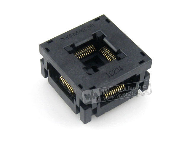 IC234-0444-037 N Yamaichi Burn-in IC Test Socket 0.8mm Pitch QFP44 TQFP44 FQFP44 PQFP44 Package Free Shipping free shipping sop32 wide body test seat ots 32 1 27 16 soic32 burn block programming block adapter