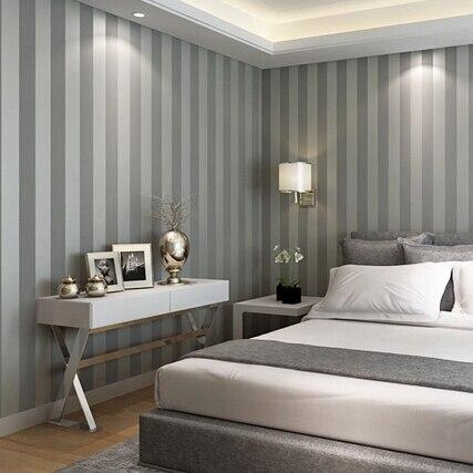 Dormitorios pintados a rayas trendy dormitorio de beb con - Dormitorios pintados a rayas ...