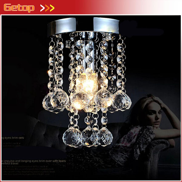 Best Price Luxury K9 Crystal Chandelier Small Crystal Lustre Lamp for Aisle Stair Hallway Corridor Porch Light Lighting Fixture led crystal light aisle small vestibule spiral staircase chandelier lamp corridor hallway lights balcony aisle lighting