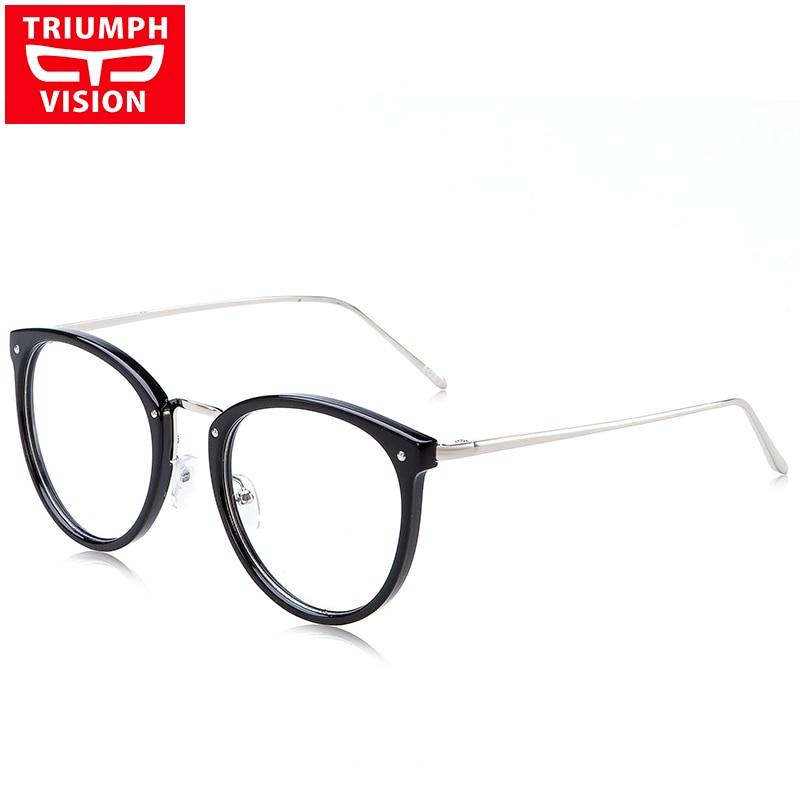 TRIUMPH VISION Myopia Round Optical Glasses Frame Women Eyewear Frames Oculos De Grau Clear Lens 2017 Spectacle Eyeglasses Frame