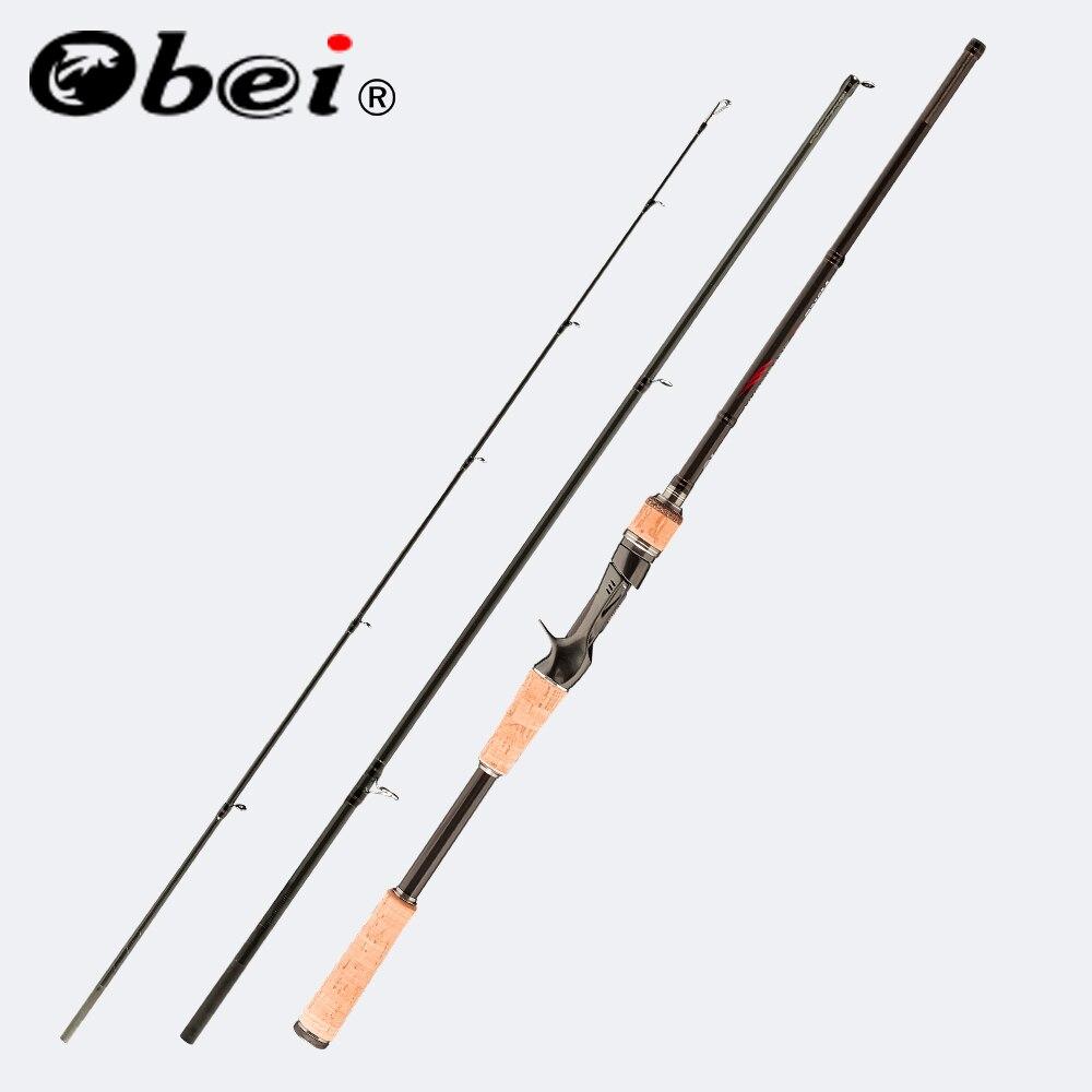 Obei perigeu 1.8m 2.1m 2.4m 2.7m 3 seção vara de pesca de arremesso de viagem ultra light fundição spinning isca 5g-40g M/ML/MH Haste