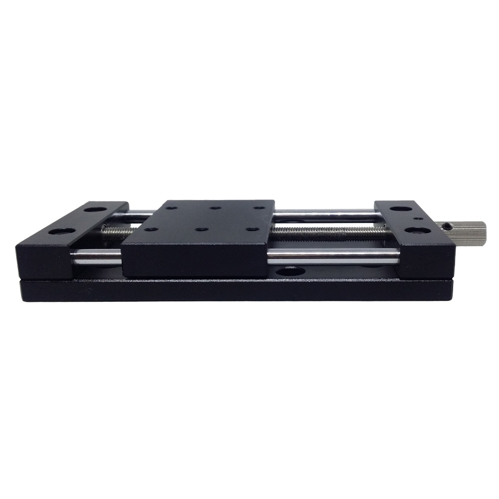 PT-SS20/50/80 Manual Linear Stage, Manual translating platform, Translation Station, X Axis Optical Sliding Table, linear  rail