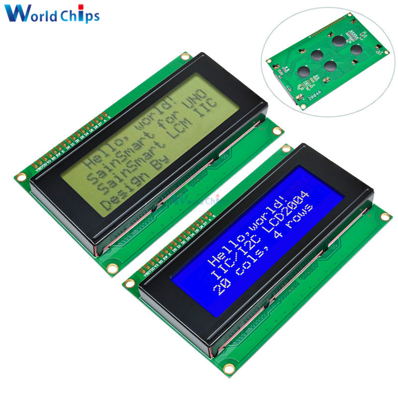 Smart Electronics LCD Module Display Monitor LCD2004 2004 20*4 20X4 3.3V/5V Character Blue/Yellow And Green Backlight Screen