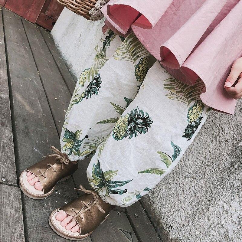 Leggings Pants Baby-Girls Harem Toddler Children Summer Floral Cute Loose 0-3-Years-Old