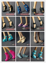 for barbie shoes doll accessories and high-heeled sandals waterproof boots muffin stage 20 pairs of shoes, a bag for sale