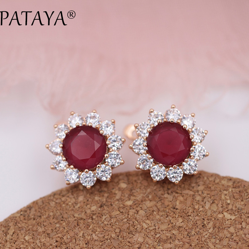 ff4a50d13 PATAYA New 11 Colors 585 Rose Gold Red Sunlight Natural Zircon Women Luxury  Party Jewelry Accessories