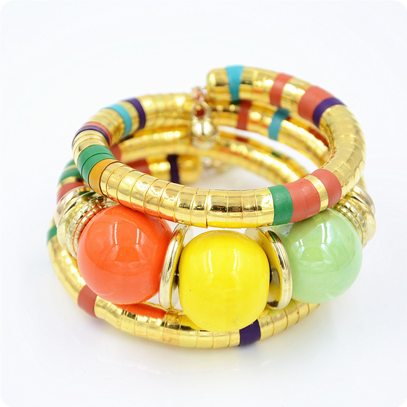 African Ethnic style Color ball fashion Bracelet Bangle women Jewelry gift