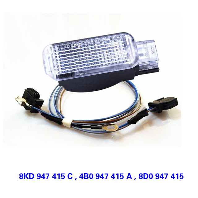TUKE OEM Door Panel Warning Light & Cable For VW VW Sharan Phaeton  Yeti Seat Leon Altea A2 A3 A7 A8 TT Q3 Q5 Q7 8KD947415