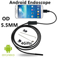 5.5mm Lens Phone Endoscope 3.5m 6 LED Waterproof Mini Camera Micro Tube Endoscope Cameras Inspection USB Micro for Phone PC