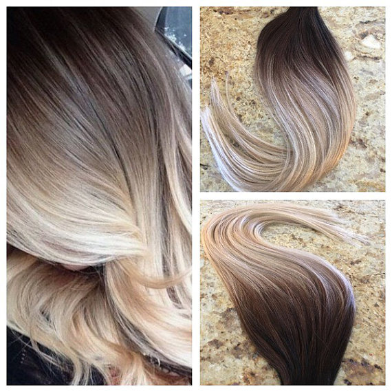 Hot Queen Balayage Ombre Ombre Tape in Hair Extensions 100 Real Human Hair  Skin Weft Seamless