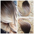 Hot queen ombre balayage ombre tape em extensões do cabelo 100 Trama Da Pele Do Cabelo Humano Real Extensão Do Cabelo Sem Costura Em Fita BY273