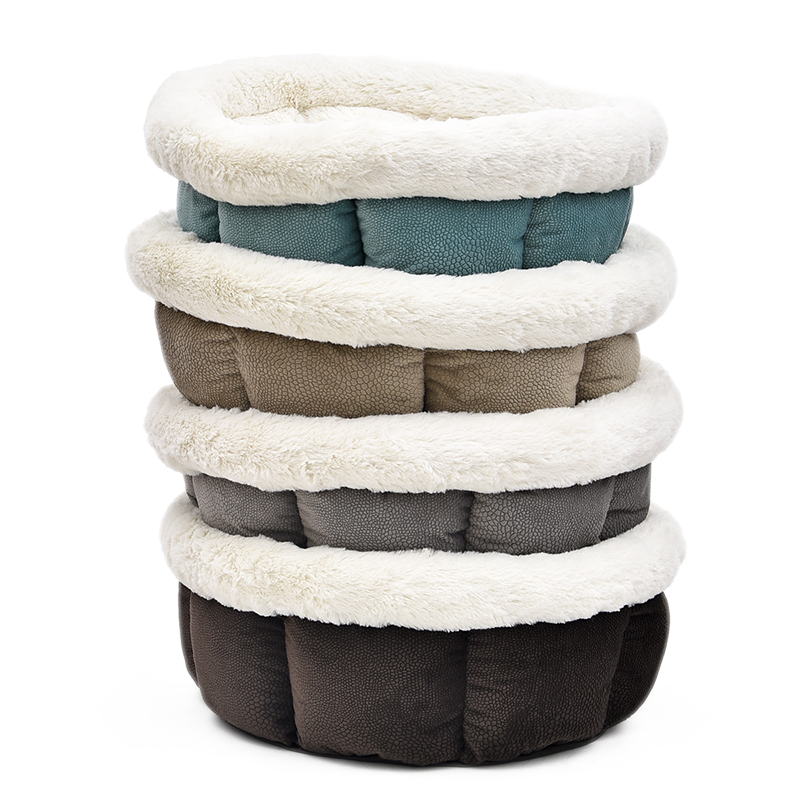 PAWZRoad Pet Cat Bed Super Blødt Pure Color Pet Kennel 4 Farver Nice - Pet produkter - Foto 3