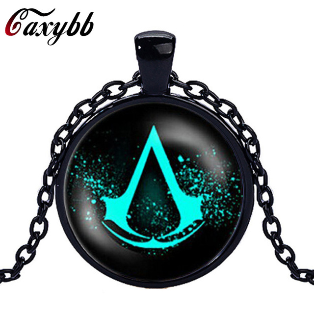 New 2017 assassins creed glass necklace pendant charms world of new 2017 assassins creed glass necklace pendant charms world of warcraft picture pendants necklace foe men aloadofball Gallery