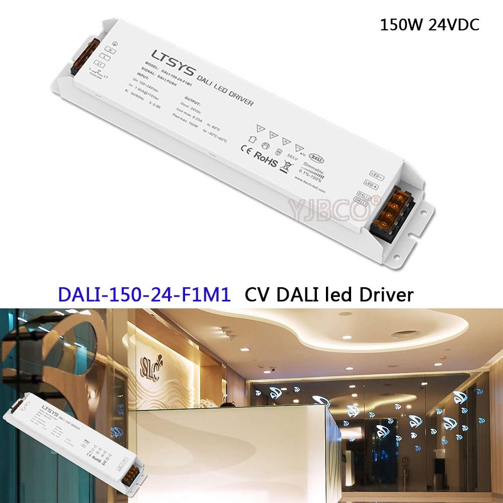 150W 24VDC CV DALI Driver;DALI-150-24-F1M1;AC100-240V input;DC24V 6.25A 150W output;DALI/Push DALI Led Dimming Driver