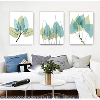 Triptych painting modular wall pictures diy oil paintings on canvas coloring by numbers Tree leaf picture by numbers art RS184
