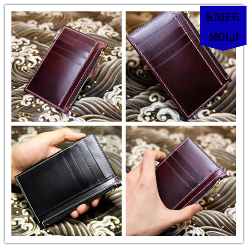 leather craft template cutter card holder wallet die cutting knife mould leather hole punches tool set deri el aletleri-in Punching from Home & Garden    1