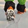 2016 Pinça de Gelo Ao Ar Livre equipamento de escalada escalada em gelo escalada Neve aderência sapato unhas correntes de neve 8 garra dente crampon
