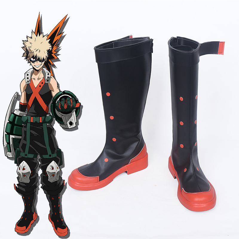 Anime My Hero Academia Cosplay Shoes Boots Bakugou Katsuki Cosplay Shoes Halloween Party Cosplay Costumes Daily Leisure Shoes