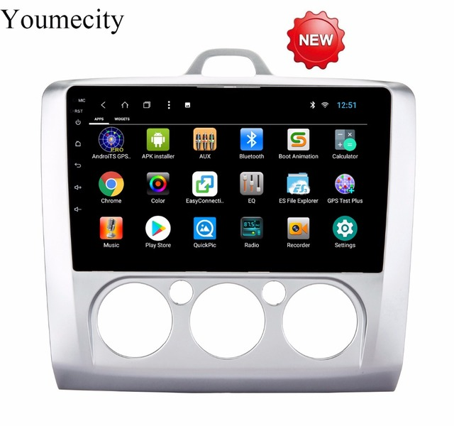 Youmecity 2G RAM Octa Core android 8.1 Car dvd Video GPS Player For Ford focus 2 3 2006-2011 Capacitive screen +wifi+Radio+BT
