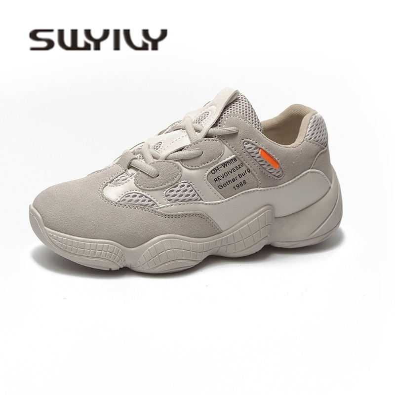 SWYIVY Hot Sale Woman Sneakers Shoes Flats Spring Autumn Female Casual Shoes  Ulzzang Mesh Breathable Leisure Sneakers Dad Shoes. В избранное. gallery  image 82639ed81a7e