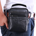 New Men Genuine Leather Cowhide Shoulder Messenger Cross body Bag Pouch Cigarette Case Brand Belt Hip Bum Waist Fanny Purse Pack