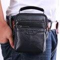 Nuevos Hombres de Cuero de Vaca Genuino de Hombro Del Mensajero Cross body Bag bolsa de la Caja de Cigarrillo de la Marca Cinturón Hip Bum Cintura Fanny Monedero paquete