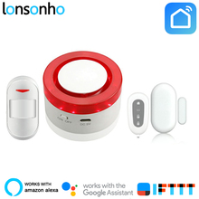 Lonsonho Wifi Smart Alarm Systems Security Wireless Home House Alarm System Works With Alexa Google Home Smart Life Tuya App yobang security alarm systems security home app control wifi home alarm systems with pir detector voice security alarm kit
